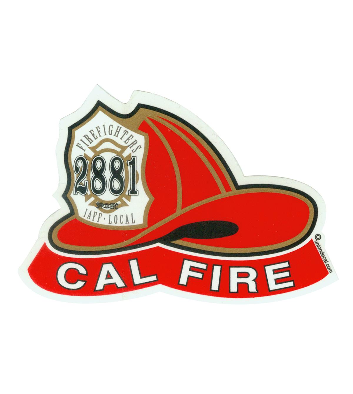 Local 2881 CAL FIRE Helmet Sticker