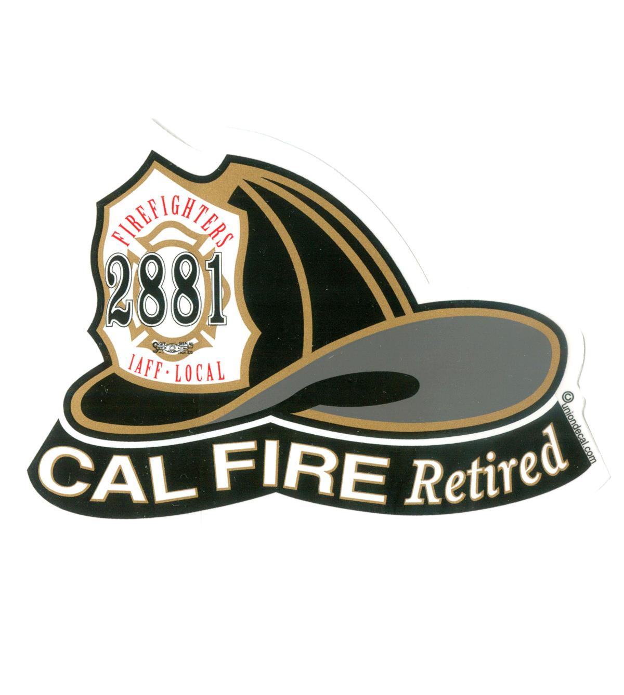Local 2881 Retired Helmet Sticker