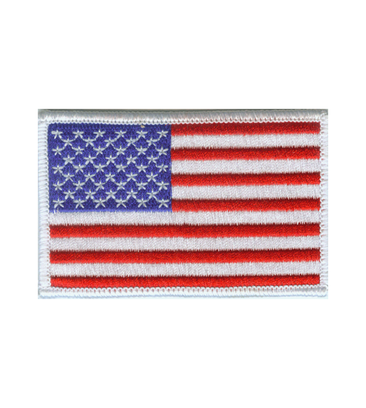 White Border US Flag Patch