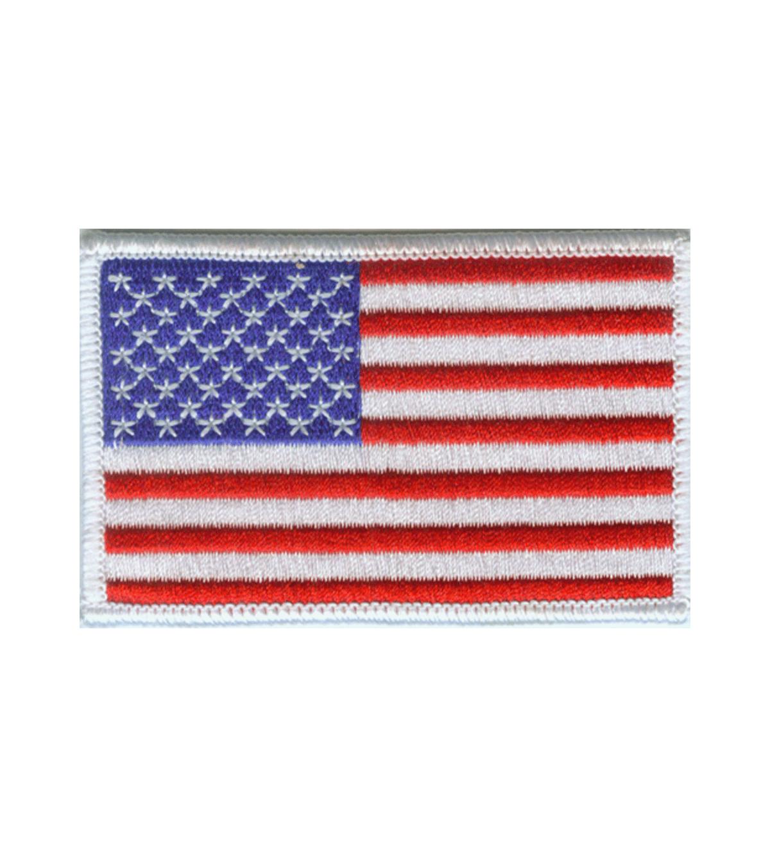 White Border US Flag Patch