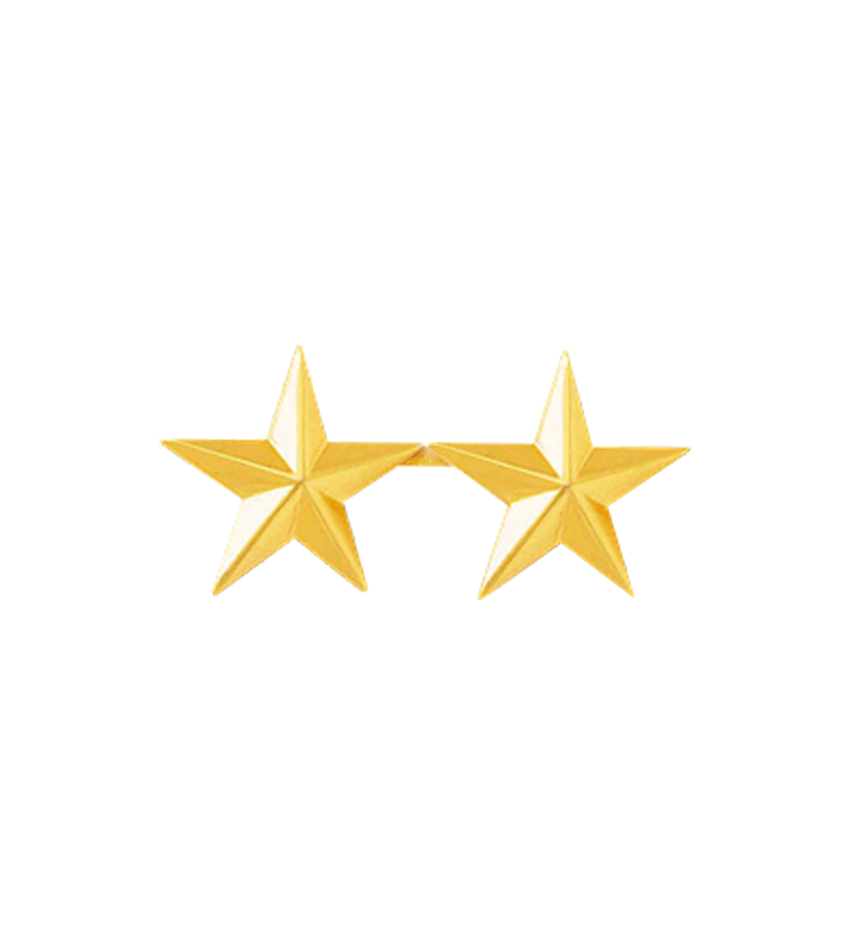 2 Gold Star Collar Brass