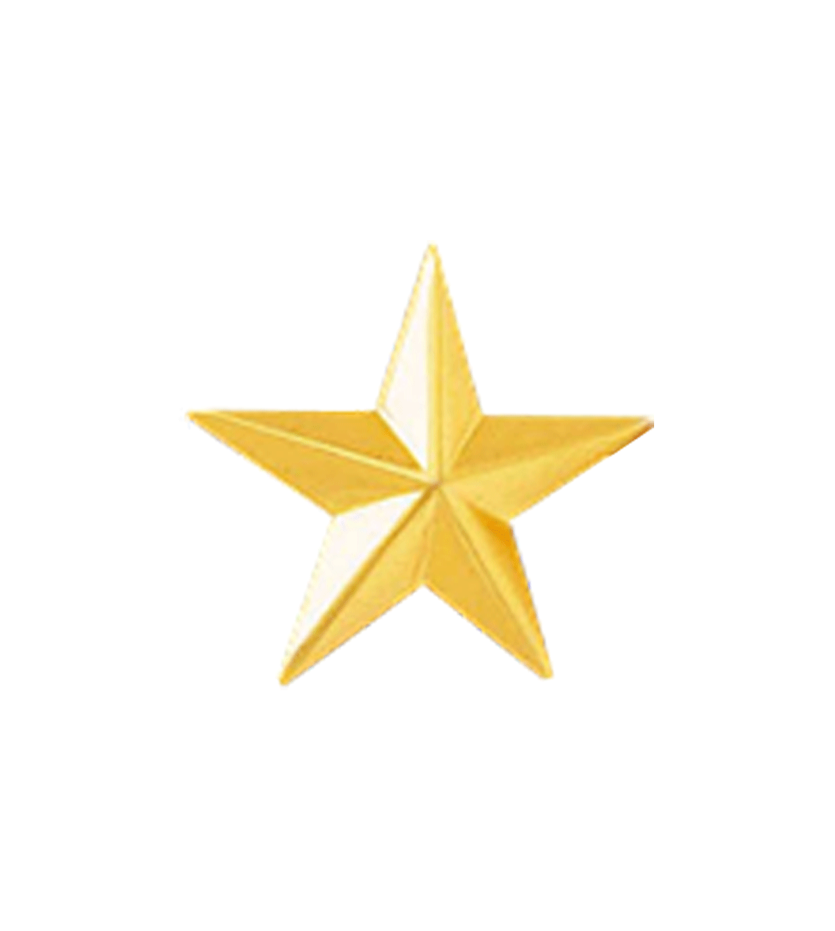 1 Gold Star Collar Brass