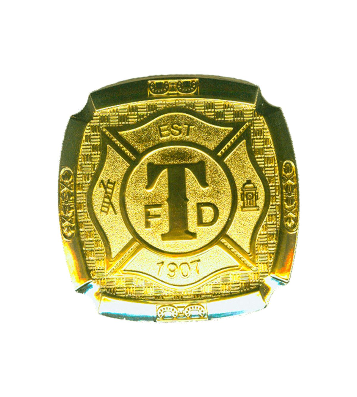 Turlock Fire Gold Belt Buckle