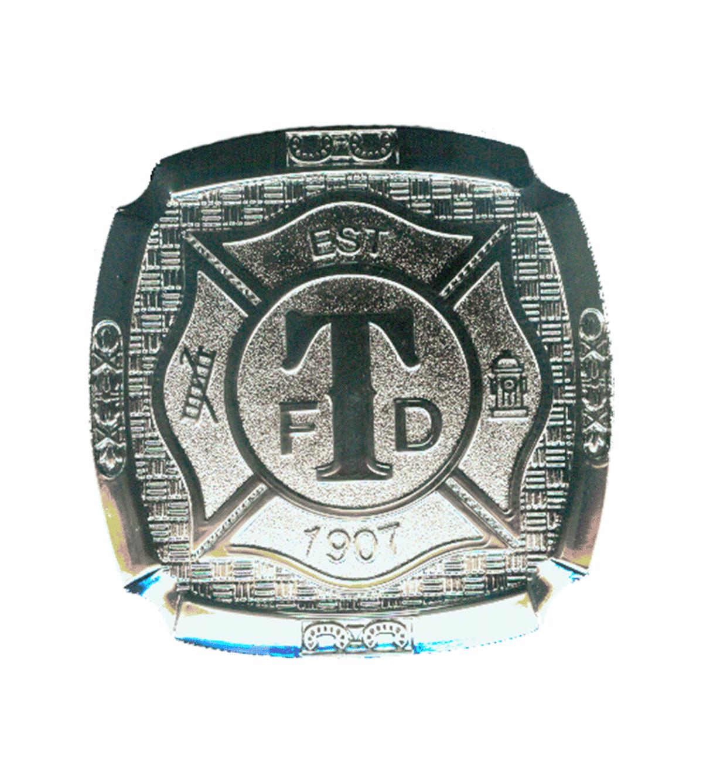 Turlock Fire Silver Belt Buckle