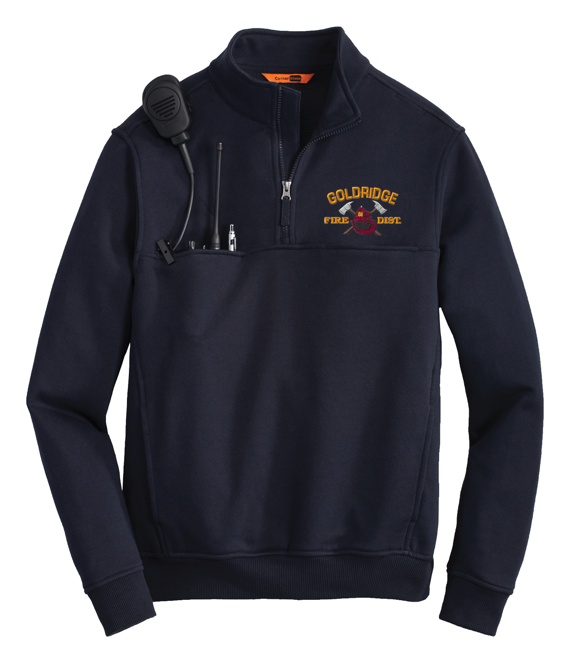 Gold Ridge Fire 1/4 zip Workshirt